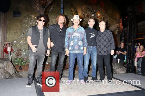 Neal Schon, Gregg Rolie, Michael Shrieve, Michael Carabello and Santana 3