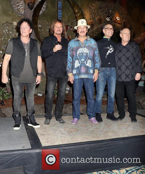 Neal Schon, Gregg Rolie, Michael Shrieve, Michael Carabello and Santana 4