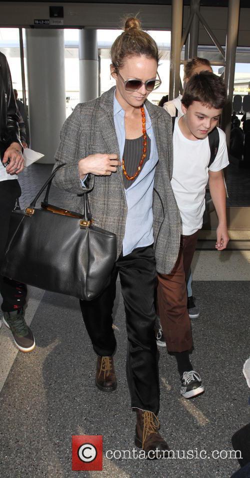 Lily Depp, Vanessa Paradis, John Depp Iii and John Christopher Depp Iii 1