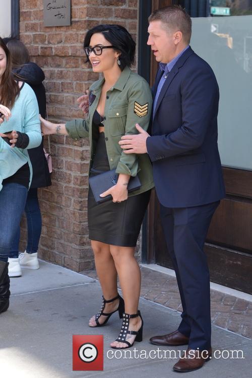 Demi Lovato  leaving her hotel in Tribeca