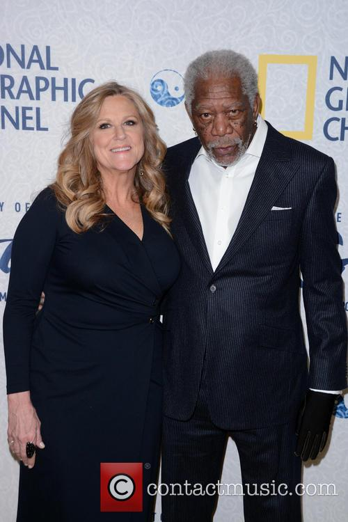 Lori Mccreary and Morgan Freeman 1