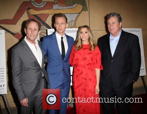 Marc Abraham, Tom Hiddleston, Elizabeth Olsen and Tom Bernard 7