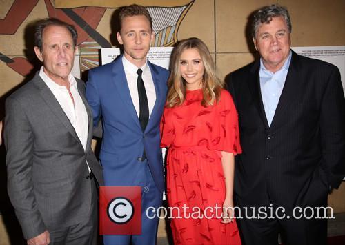 Marc Abraham, Tom Hiddleston, Elizabeth Olsen and Tom Bernard 9