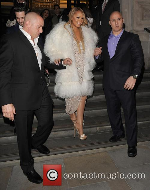 Mariah Carey leaves her hotel to head to...