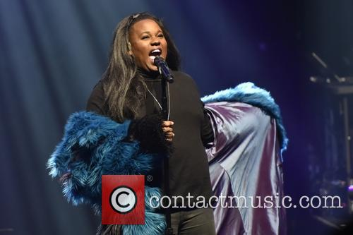 Alex Newell performing at The Vic Theatre