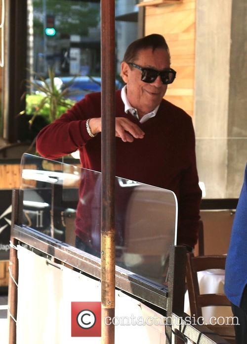 Donald Sterling has lunch at Il Pastaio