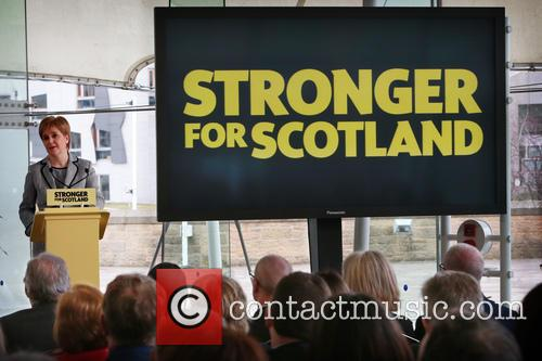 Following The Dissolution Of The Scottish Parliament and Snp Candidates For The Holyrood Election Assemble At Dynamic Earth Edinburgh For A Speech By Snp Leader Nicola Sturgeon. 5