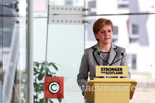 Following The Dissolution Of The Scottish Parliament and Snp Candidates For The Holyrood Election Assemble At Dynamic Earth Edinburgh For A Speech By Snp Leader Nicola Sturgeon. 6