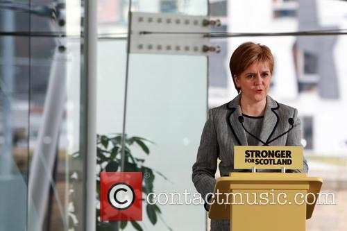 Following The Dissolution Of The Scottish Parliament and Snp Candidates For The Holyrood Election Assemble At Dynamic Earth Edinburgh For A Speech By Snp Leader Nicola Sturgeon. 7