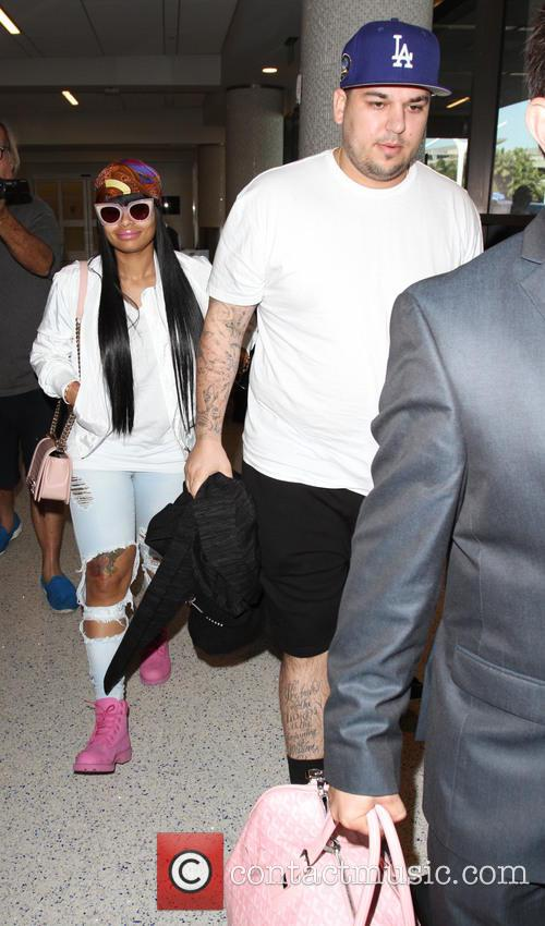 Rob Kardashian and Blac Chyna 1