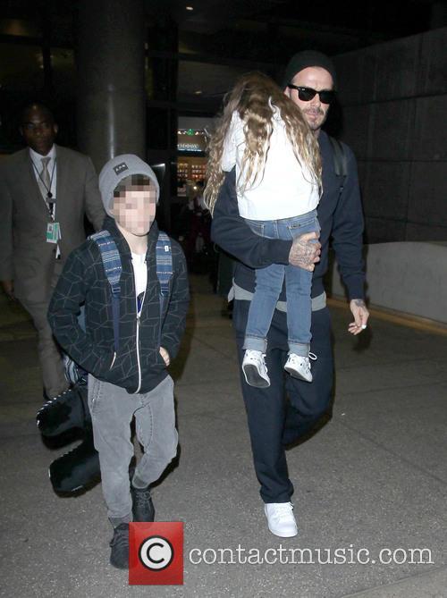 David Beckham, Harper Beckham and Cruz Beckham 3