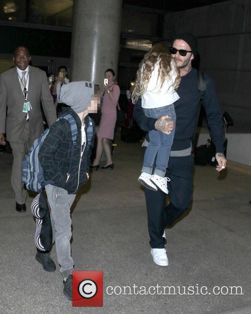 David Beckham, Harper Beckham and Cruz Beckham 4
