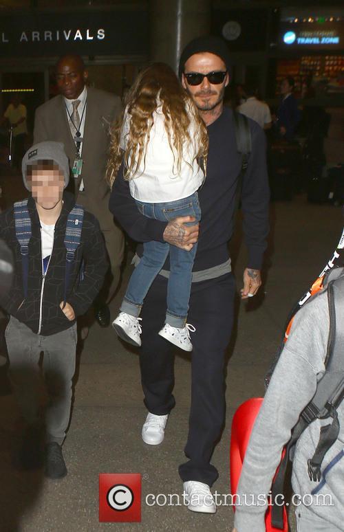 David Beckham, Harper Beckham and Cruz Beckham 6