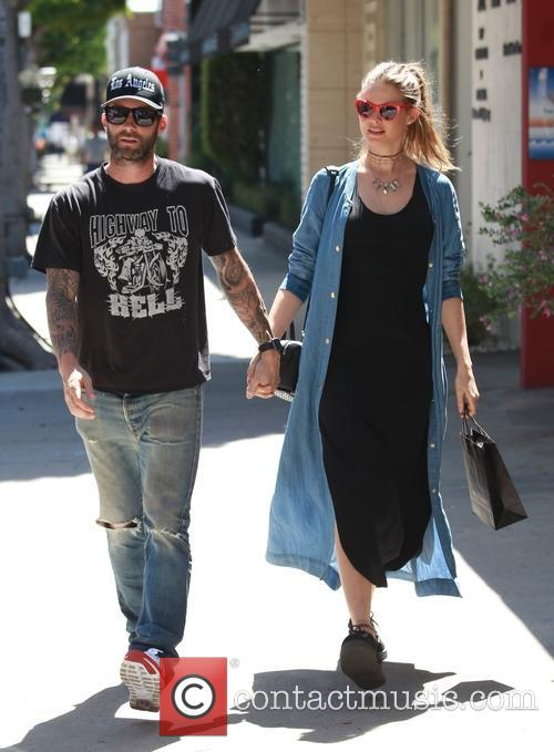 Adam Levine and Behati Prinsloo snapped out and about