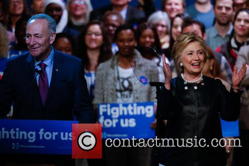 Hillary Clinton and Charles Schumer 9