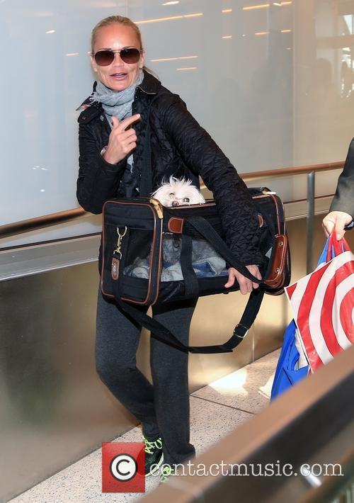 Kristin Chenoweth at Los Angeles International (LAX) Airport