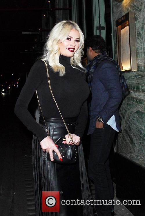 Chloe Sims leaving Sexy Fish restaurant Mayfair