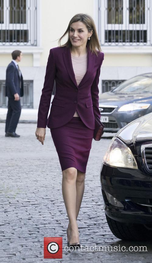 Queen Letizia of Spain visits 'Microfinanzas BBVA' Foundation