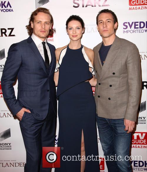 Sam Heughan, Caitriona Balfe and Tobias Menzies 3
