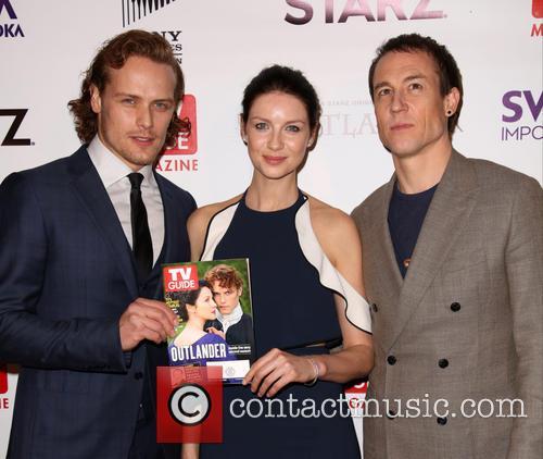 Sam Heughan, Caitriona Balfe and Tobias Menzies 8