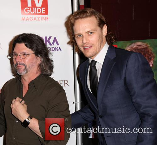 Ronald D. Moore and Sam Heughan 5