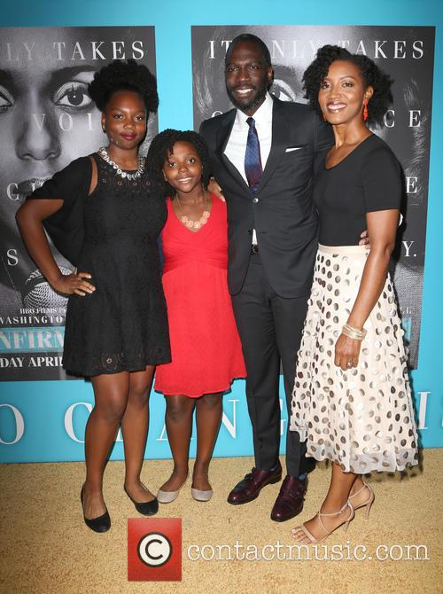 Rick Famuyiwa, Glenita Mosley and Daughters 5