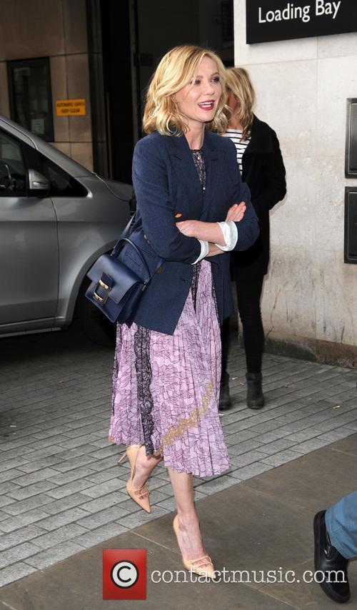 Kirsten Dunst arriving at the Radio 1 studios