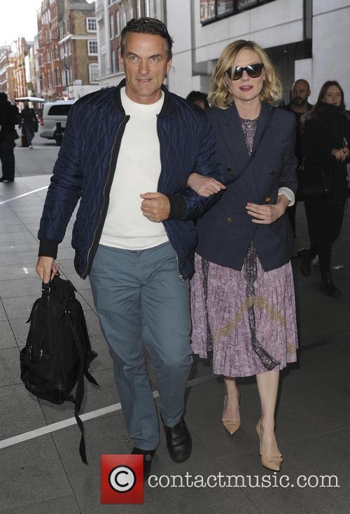 Kirsten Dunst seen arriving at BBC studios