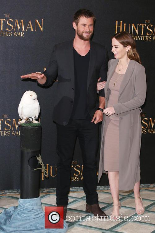 Emily Blunt and Chris Hemsworth 2