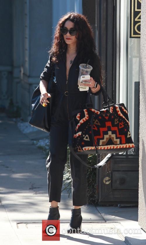 Vanessa Hudgens leaves a hair salon in Beverly...