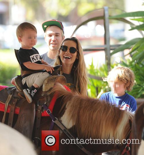 Pete Wentz, Meagan Camper, Bronx Wentz and Saint Wentz 6