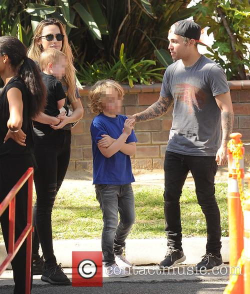 Pete Wentz, Meagan Camper, Bronx Wentz and Saint Wentz 10