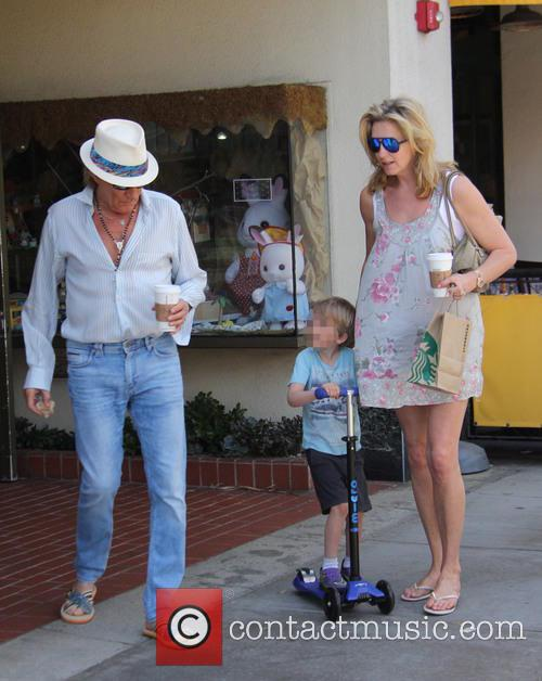 Penny Lancaster, Aiden Stewart and Rod Stewart 10