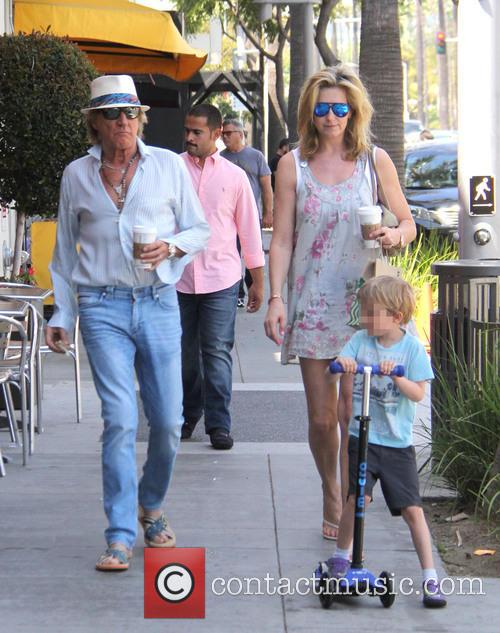Penny Lancaster, Aiden Stewart and Rod Stewart 11
