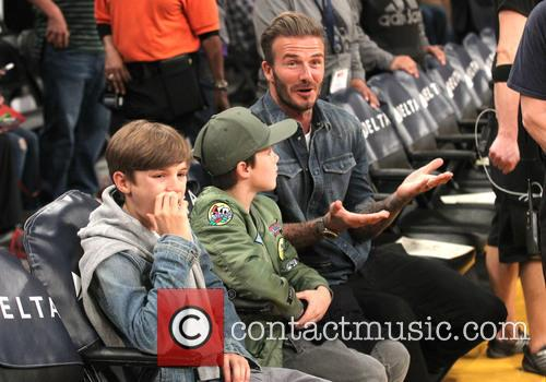 David Beckham, Romeo Beckham and Cruz Beckham 2