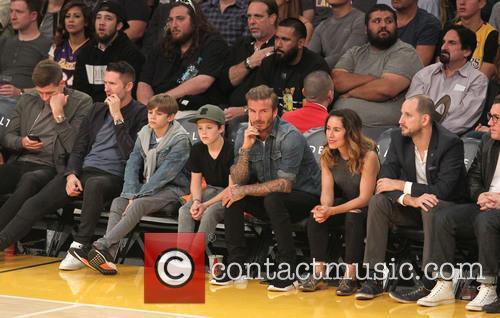 Steven Gerrard, Robbie Keane, David Beckham, Romeo Beckham and Cruz Beckham 3