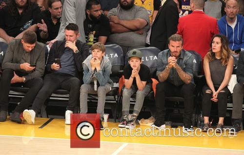 Steven Gerrard, Robbie Keane, David Beckham, Romeo Beckham and Cruz Beckham 4