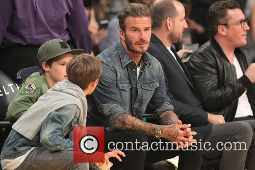 David Beckham, Romeo Beckham and Cruz Beckham 6
