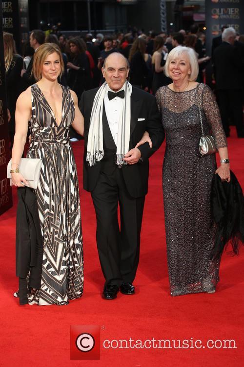 Katherine Suchet, David Suchet and Sheila Ferris
