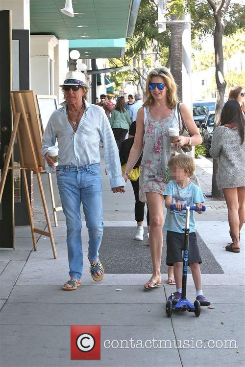 Rod Stewart, Penny Lancaster and Aiden Stewart 2