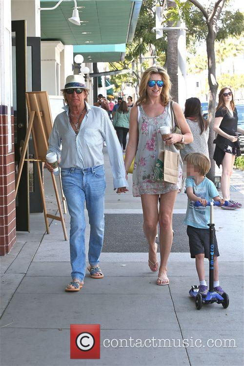 Rod Stewart, Penny Lancaster and Aiden Stewart 3