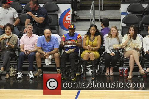 Celebs out at the Clippers game
