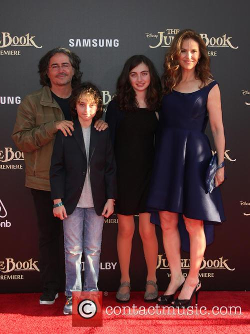 Brad Silberling, Amy Brenneman, Charlotte Tucker Silberling and Bodhi Russell Silberling 1