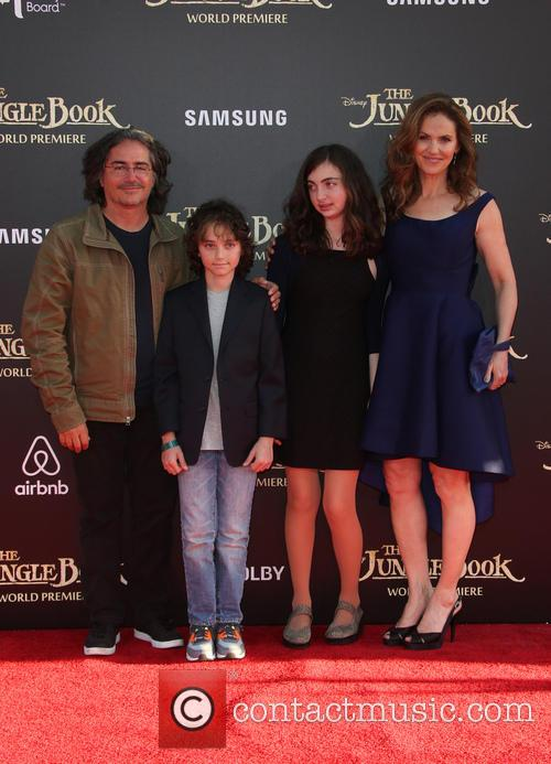 Brad Silberling, Amy Brenneman, Charlotte Tucker Silberling and Bodhi Russell Silberling 2