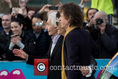Rolling Stones, Mick Jagger, Charlie Watts and Ronnie Wood