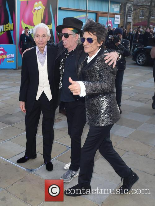 Keith Richards, Ronnie Wood and Charlie Whatts 9