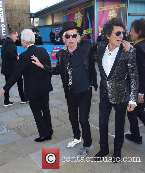 Keith Richards, Ronnie Wood and Charlie Whatts 10