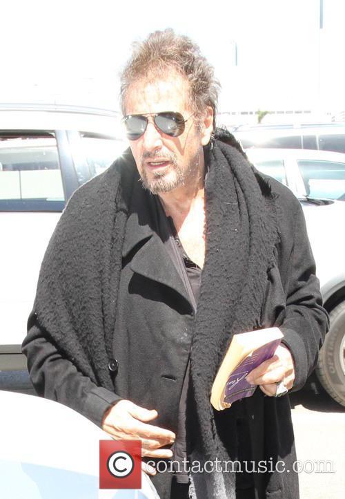 Al Pacino arrives at LAX