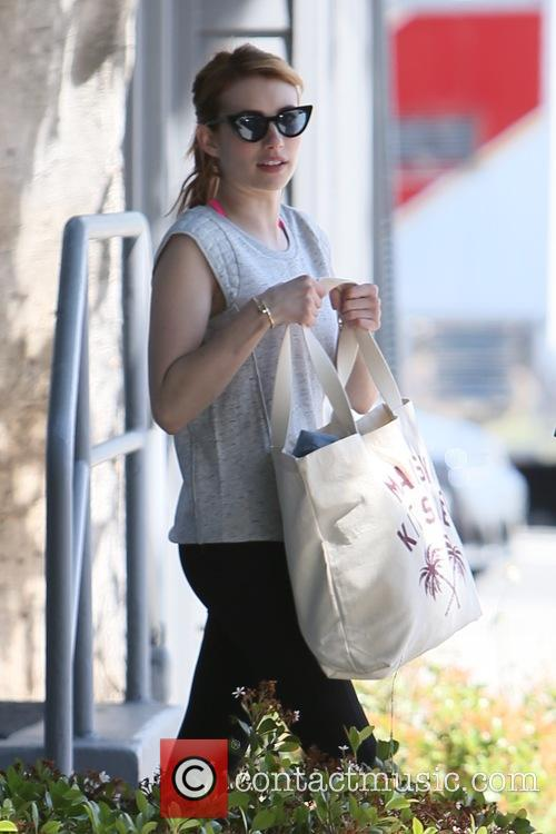 Emma Roberts seen leaving a gym