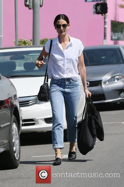 Lily Aldridge shopping on Melrose